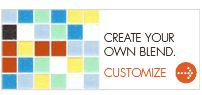 """Click """"Create your own Blend"""" to see different tile combinations."""