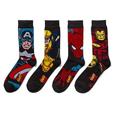 Marvel Superhero Crew Socks 2-pack | ThinkGeek