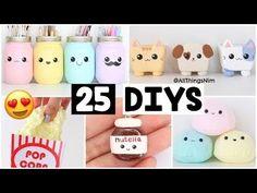 making 25 amazing diy slimes squishies Diy Kawaii, Kawaii Crafts, Valentines Bricolage, Diy Valentines Cards, Diy Tumblr, Squishies, Easy Diy Crafts, Crafts To Do, Doll Crafts