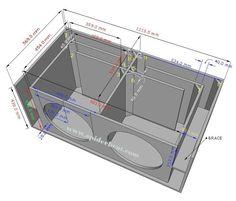 Ukuran Dan Skema Box Speaker Sub-Bass 15 Inch Double 15 Inch Subwoofer Box, Custom Subwoofer Box, Diy Subwoofer, Subwoofer Box Design, Speaker Box Design, Sub Box Design, Circuit Board Design, Electrical Circuit Diagram, Car Audio Installation