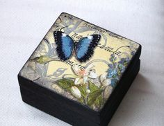 SMALL WOODEN BOX DECOUPAGE TECHNIQUE | Flickr - Photo Sharing!