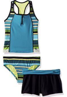 8f13472275a9c zeroxposur Big Girl s Three Piece Tankini Swimsuit Set Limbo Fiji 10   fashion  clothing