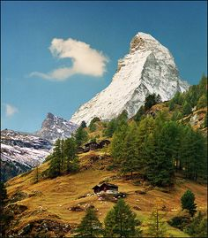 The Matterhorn (German), Cervino (Italian) or Cervin (French), is a mountain in the Pennine Alps. With its 4,478 metres (14,692 ft) high summit, lying on the border between Switzerland and Italy, it is one of the highest peaks in the Alps and its 1,200 metres (3,937 ft) north face is one of the Great north faces of the Alps.