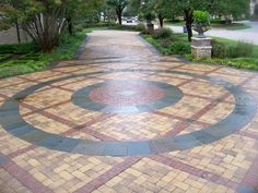 Interlocking paver driveway installed by Precision Pavers in Plano, TX.