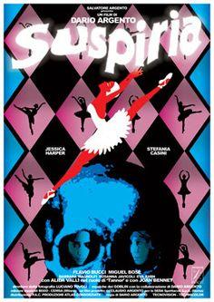 SUSPIRIA - 1977 - movie by Dario Argento -  retro artistic movie cinema poster