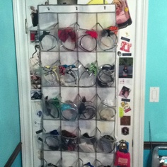 Headband holder/ not so girly but gets the job done