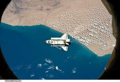 Space Shuttle Discovery over Morocco  as seen from the International Space Station