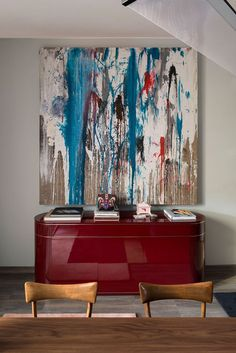 Red Console  Modern consoles in red can be a great statement piece   http://bocadolobo.com #consoletables #modernconsoletables