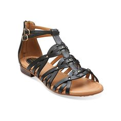 f8c2e54c2a09 Clarks Viveca Rome Sandals (310 BRL) ❤ liked on Polyvore featuring shoes