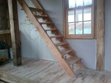 My last post was about the future stairs. Well, The ladder has been replaced by actual stairs. Tiny House Stairs, Stairways, Mountain, Ideas, Home Decor, Stairs, Staircases, Decoration Home, Room Decor