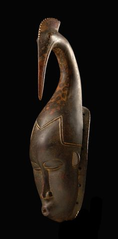 "Africa | Mask ""gu"" from the Guro people of the Ivory Coast 