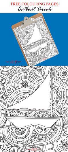 Catboat Break Free Colouring Page