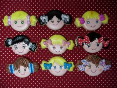 Girl faces with a candy cutter!