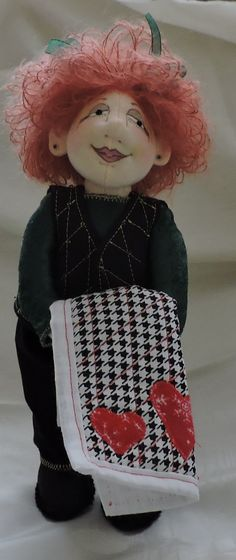 Made by request...a doll with her quilt...Jill Maas Winnie Mae Pattern about 10 inches
