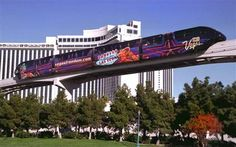 Las Vegas Monorail starts at the MGM and goes to the Sahara to start all over again.