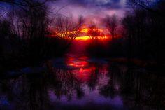 https://flic.kr/p/R7Agy5 | Sunset on the rive