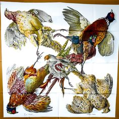 ll➤ Discover luxury pre-owned HERMÈS Silk Handkerchief for Women, Luxury and Fashion Designer Silk Handkerchief at hand! ✅ Shop key designer brands at up to off RRP Silk Handkerchief, Hermes Paris, Christian Dior Vintage, Antique Illustration, Scarf Design, Vintage Scarf, Scarf Wrap, Ivory, Artist