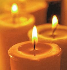 yellow candles to say goodbye to summer http://pinterest.com/pin/100908847871791653/
