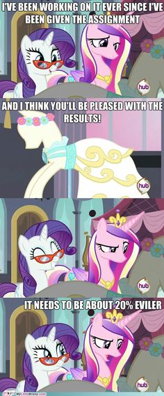 Poor Rarity, no pony will ever be happy with her dresses