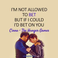 the hunger games images | The Hunger Games (2012) Quote (About believe, bet, gamble)