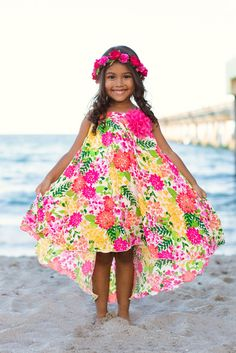1f2c474d063f Image of Mia Belle Baby Garden Floral Print High Neck Dress (Toddler