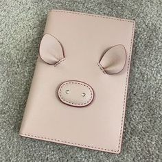 kate spade Bags - Kate Spade Year of the Pig Passport Wallet, BNWT! Leather Notebook, Leather Books, Leather Journal, Handmade Notebook, Handmade Books, Kate Spade Pink, Kate Spade Bag, Coin Purse Wallet, Coin Purses