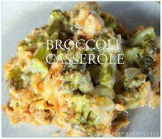Cheesy Broccoli Casserole - Snippets of Inspiration