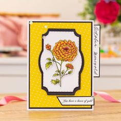 Crafters Companion, Heart Of Gold, Marigold, Playing Cards, Playing Card