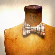 ONLY 6 LEFT!!! Men's Bow Tie  Geek Chic Number 43  Cream Black by theHouseofLux, $37.00