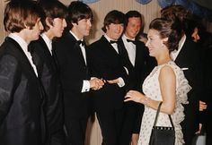 The Beatles meet Princess Margaret