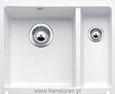 Subline 350/150-U Blanco zlewozmywak ceramiczny podblatowy 396x525 korek automatyczny biały połysk - 514529  http://www.hansloren.pl/Zlewozmywaki-ceramiczne