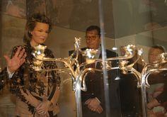 royalwatcher:  Queen Mathilde Henry Van De Velde's Exhibition at the Royal Museum of Art and History in Brussel, December 10, 2013.