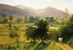 Albert Bierstadt - Conway Valley New Hampshire: The Art in Pixels - Online Art Gallery