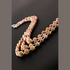 Conch Pearl Necklace 3 Strands: Conch Pearl of 3 Strands for sale at Bonhams Auction comprising three strands of forty-four, forty-seven and forty-nine graduated conch pearls, measuring