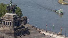 Am Dreiländereck bei Koblenz steht das Kaiser-Wilhelm-I.-Denkmal.