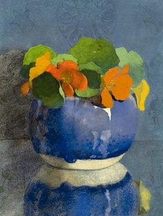 Jan Voerman Sr.: Nasturtiums in a Blue Ginger Jar    1935