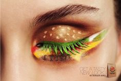 Check out clever 'hamburger' makeup for new Burger King ad.