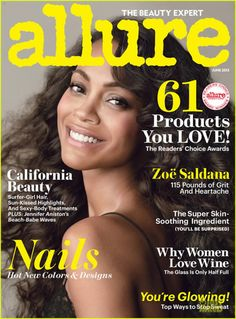 Zoe Saldana on the cover of Allure Magazine June 2013