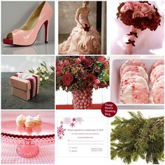 pink and red winter wedding
