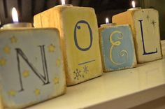 Christmas Candle Holders £29.99 #christmas #candles #wooden #handmade #gifts