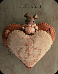Paula's Heart hanging pin-keep. 2012