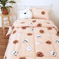 Teen Bedroom, Bedroom Wall, Bedroom Decor, Dream Rooms, Dream Bedroom, Rainbow Kitchen, Kawaii Room, Bear Decor, Girl Bedroom Designs
