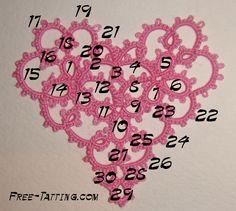 Tatted heart (valentine) 1   Free Tatting Patterns