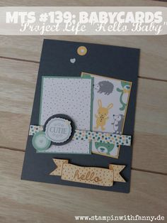stampin up stampinwithfanny project life babycard geburt babykarte junge boy hello match the sketch #stampinwithfanny