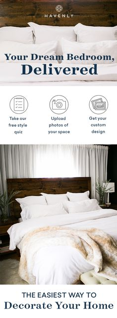 Cure your case of design envy and get the bedroom you've been dreaming about. It's the easiest way to decorate your home