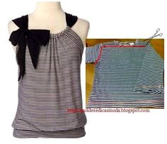 25 Inspirational Ideas for Transforming Your Old Shirts - CretíqueIf you're anything like us, you'll know that there's really no such thing as waste – just bits and. The post 25 Inspirational Ideas for Transforming Your Old Shirts appeared f Diy Clothes Refashion, Shirt Refashion, T Shirt Diy, Diy Tshirt Ideas, Sewing Shirts, Sewing Clothes, Remake Clothes, Diy Kleidung, Diy Vetement