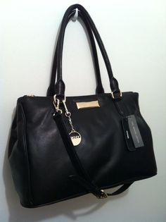 REDUCED!!  DKNY Black Genuine Leather Shopper/Shoulder Bag. NWT. #DKNY #ShopperShoulderBag