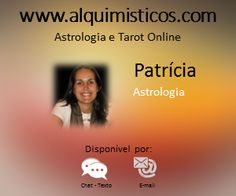 Nossa Astróloga Patrícia,   Os clientes gostam da praticidade e profundidade da sua análise de seu mapa e das previsões. Você vai adorar a Patrícia e vai se perder conversando com ela!   Equipe Alquimísticos