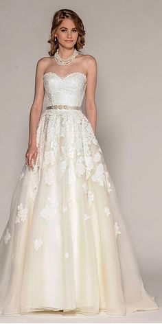 18 Strapless Sweetheart Neckline Wedding Dresses From TOP Designers ❤ See more: http://www.weddingforward.com/strapless-sweetheart-neckline-wedding-dresses/ #weddings #dresses