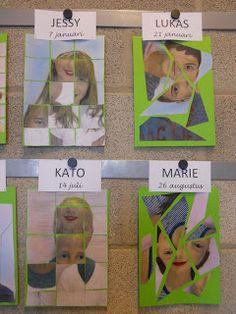 leerjaar B - juf Lore : Beeldopvoeding: Verjaardagskalender volgens het kubisme Primary Classroom, School Classroom, Beginning Of The School Year, Back To School, Preschool Learning Activities, Identity Art, Collaborative Art, Great Artists, Kindergarten